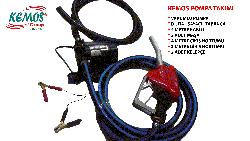 Vakumlu Diğital Sayaçlı Mazot Tabancası ve Pompası 12 volt - Thumbnail