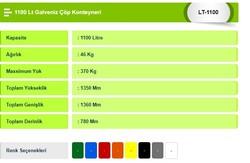 1000 Lt Galveniz Çöp Konteyneri - Thumbnail