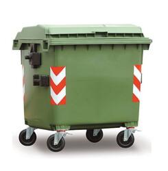 - 1100 litre plastik konteyner çöp kutusu