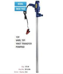 - 12 Volt Varil Transfer Pompası - Mazot Yakıt İnce Yağ Aktarma