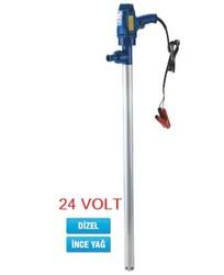 - 24 Volt Varil Transfer Pompası - Mazot Yakıt İnce Yağ Aktarma