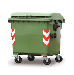 - 660 litre plastik çöp konteyneri