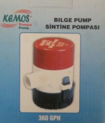 Bilge Pump 360 GPH 24 Volt Sintine Pompası Rule Pump - Thumbnail