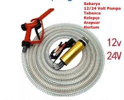 KEMOS - Delice 12 Volt Alüminyum Dalgıç Tipi Sıvı Aktarma Seti(Pompa + Hortum + Plastik Sıvı Transfer Tabancası)