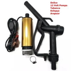 KEMOS - Delice 12 Volt Alüminyum Dalgıç Tipi Sıvı Aktarma Seti(Pompa + Plastik Sıvı Transfer Tabancası)