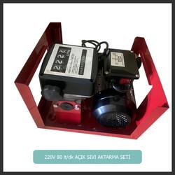 YRT - GMG Star 220 Volt 80 lt/dk Açık Mazot-oil-dissel-Aktarma Seti(Hortum + Pompa + Sayaç + Tabanca)