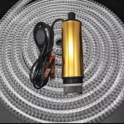 KEMOS - Meriç 24 Volt Alüminyum Dalgıç Tipi Sıvı Aktarma Seti(Pompa + Hortum)