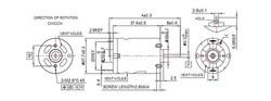 RS-385 28 mm 24 Volt DC Motor (Fırçalı Motor) - Thumbnail