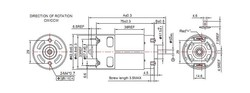 RS-795H 42mm 24 VOLT DC Motor (Fırçalı Motor) - Thumbnail